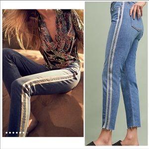 Anthro Pilcro High-Rise Slim Straight Jeans SZ 25